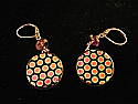 Pink and gold dichroic dot series